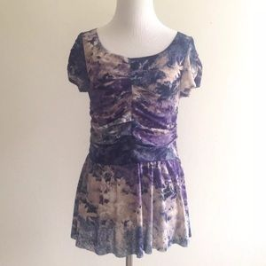 Anthropologie Postmark Top Blue Purple Medium